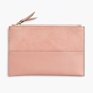 j crew | medium pouch in mixed suede